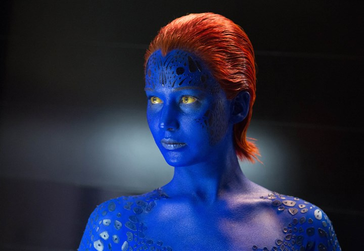 "summermovies17-2 Jennifer Lawrence as Mystique in ""X-Men: Days of Future Past."""