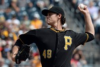 Pirates lefty Jeff Locke pitches against the Cardinals this afternoon at PNC Park.