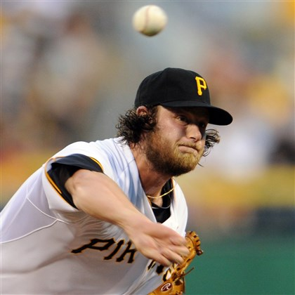 20140826mfbucssports02-1 The Pirates' Gerrit Cole pitches against the Cardinals at PNC Park on Tuesday night.