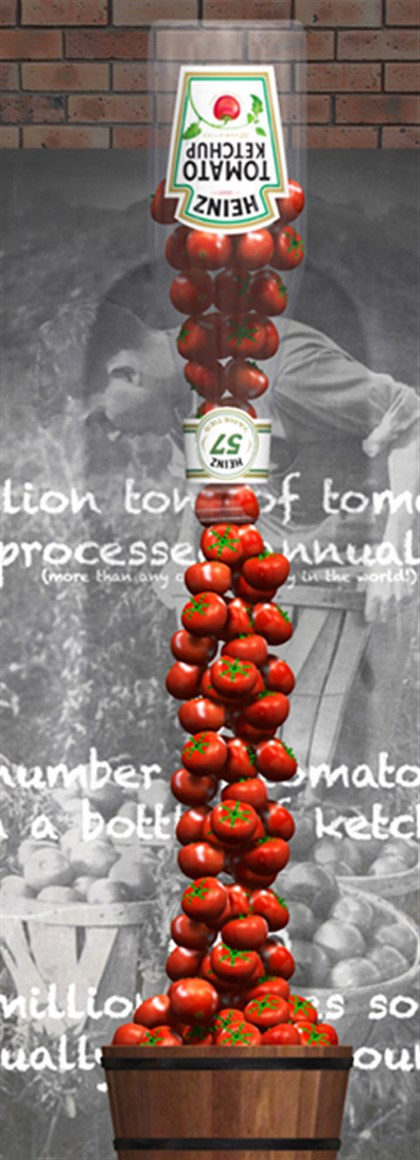 20140827hoHeinzHCtomatomag A tomato waterfall is part of the new Heinz exhibit at the Senator John Heinz History Center.