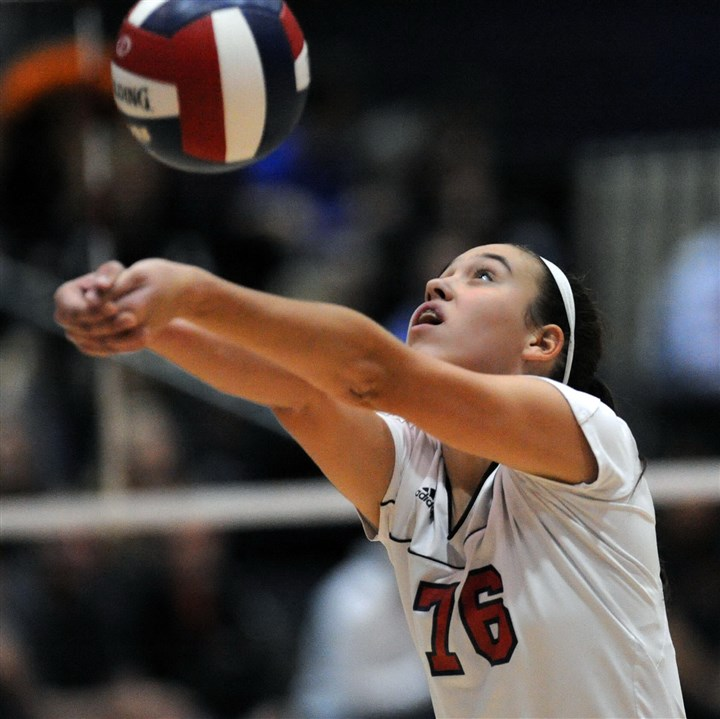 shalervball0829 Shaler's Annie Bozzo is committed to Syracuse.
