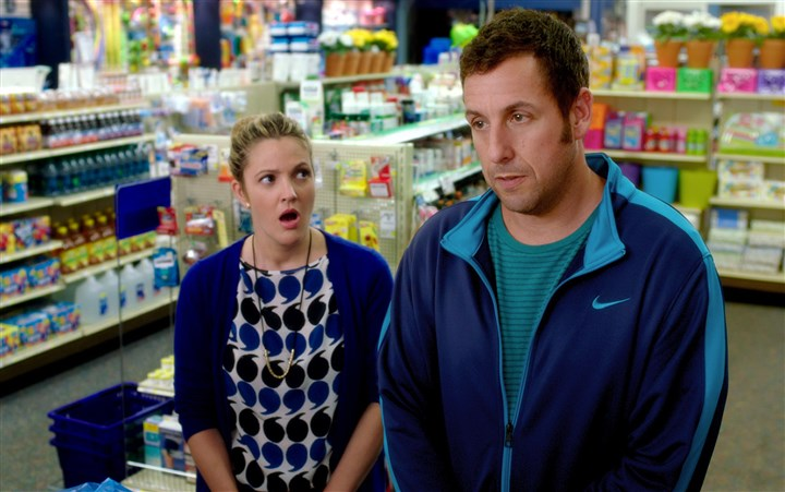 "20140828HOblendedDVD Drew Barrymore and Adam Sandler star in ""Blended"""