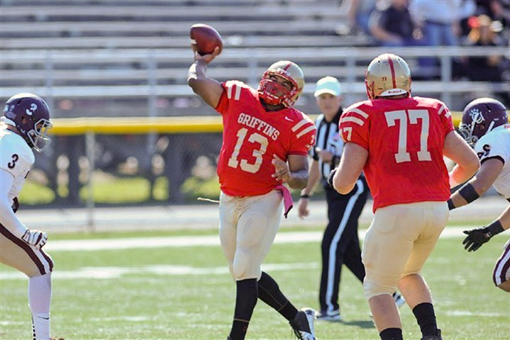 20140823hdJacksonZSpt.jpg Andrew Jackson is a returning starter at quarterback for the Seton Hill University Griffins.
