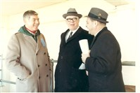 Left to right, Ed Sabol, the founder of NFL Films, Steelers founder Art Rooney Sr. and Ed Kiely.