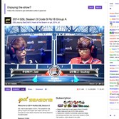 This frame grab taken from Twitch.tv shows two gamers competing as a streaming chat, at right, allows visitors to watch the two gamers go head-to-head.