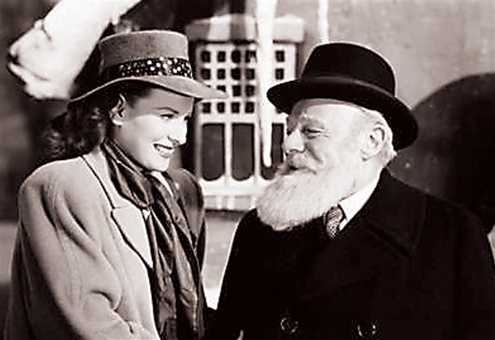 "Ohara0829 Maureen O'Hara and Edmund Gwenn in a scene from ""Miracle on 34th Street."""