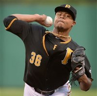 Pirates starter Edinson Volquez has been their steadiest presence in the rotation this season.
