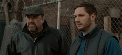 "TheDrop_preview-1 The late James Gandolfini and Tom Hardy star in ""The Drop."""