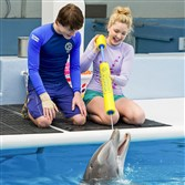 "Nathan Gamble and Cozi Zuehlsdorff in ""Dolphin Tale 2"""