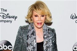 TV personality Joan Rivers attends A Celebration of Barbara Walters in New York in May. Ms. Rivers died today at age 81.