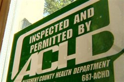 The Allegheny County Council on Tuesday rejected a plan to start posting health inspection grades on restaurant doors.
