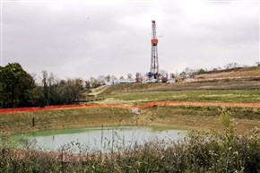 A drilling rig used in Houston, Pa., in October 2014.
