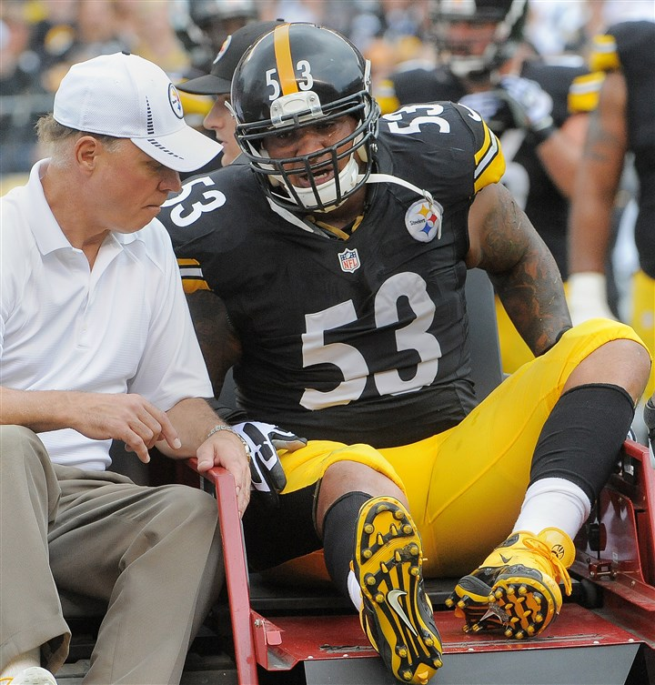 Maurkice Pouncey injury Maurkice Pouncey winces in pain as he's taken off the field in the Steelers' season opener in 2013. Pouncey was out for the season with an ACL injury.