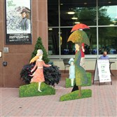 "Signature Theatre in the Village of Shirlington in Arlington, Va., decorates the walk way for its acclaimed production of ""Sunday in the Park With George,"" directed by CMU grad Matthew Gardiner, the theater's associate artistic director."