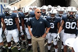 James Franklin and the Nittany Lions prepare to take the Beaver Stadium field against Akron in 2014.