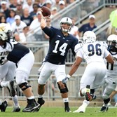 Penn State quarterback Christian Hackenberg throws a pass in the second quarter Saturday against the Akron Zips at Beaver Stadium in University Park, Pa.