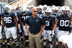 Penn State head coach James Franklin stands at the gate prior to the Saturday's game against Akron.