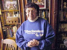 Mary Wohleber at home in Troy Hill in 2006.