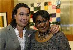 Nick Payiavlas and Brenda Waters.
