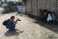 Post-Gazette photographer Julia Rendleman takes photos of the children in Nepal.