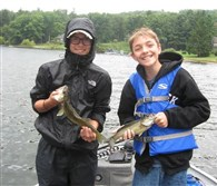 Vacation Catches Johnny Aiello (left), 15, of Monroeville boated a 163⁄4-inch walleye just as Jimmie Koch (right), 14, of Bethel Park pulled in a 13-inch smallmouth at Deep Creek, Md.