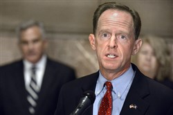 Sen. Pat Toomey speaks at the Allegheny County Courthouse last fall.
