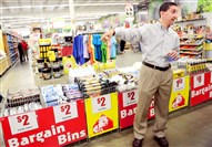 Joe Kallen, CEO of home improvement store Busy Beaver, points out the bargin bins situated in the center aisle of the store in New Kensington during a tour discussing the reorganization of the stores.ussing the reorganization of the stores.