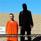 A still image taken from a purported Islamic State video released on Saturday of British captive David Haines before he is beheaded. Islamic State militants fighting in Iraq and Syria released a video on Saturday that purported to show the beheading of British aid worker Haines. Reuters could not immediately verify the footage. However, the images were consistent with that of the filmed executions of two American journalists, James Foley and Steven Sotloff, in the past month. Mr. Haines, a 44-year-old father of two from Perth in Scotland, was kidnapped last year while working for the French agency ACTED.