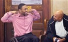 Leon Ford, left, reacts Monday with his father, Leon Ford Sr., after being found not guilty on the charge of aggravated assault. The jury could not reach a verdict on the other charges against the East Liberty man.
