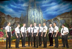 """Hello!"" from the ""The Book of Mormon,"" returning to the Benedum Center this week."