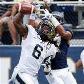 Pitt defensive back Lafayette Pitts breaks up a pass against Florida International Saturday.