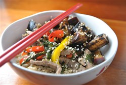 Ginger Lime Beef Stir-fry.