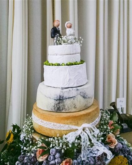 Churchmouse Cheese Wedding Cake