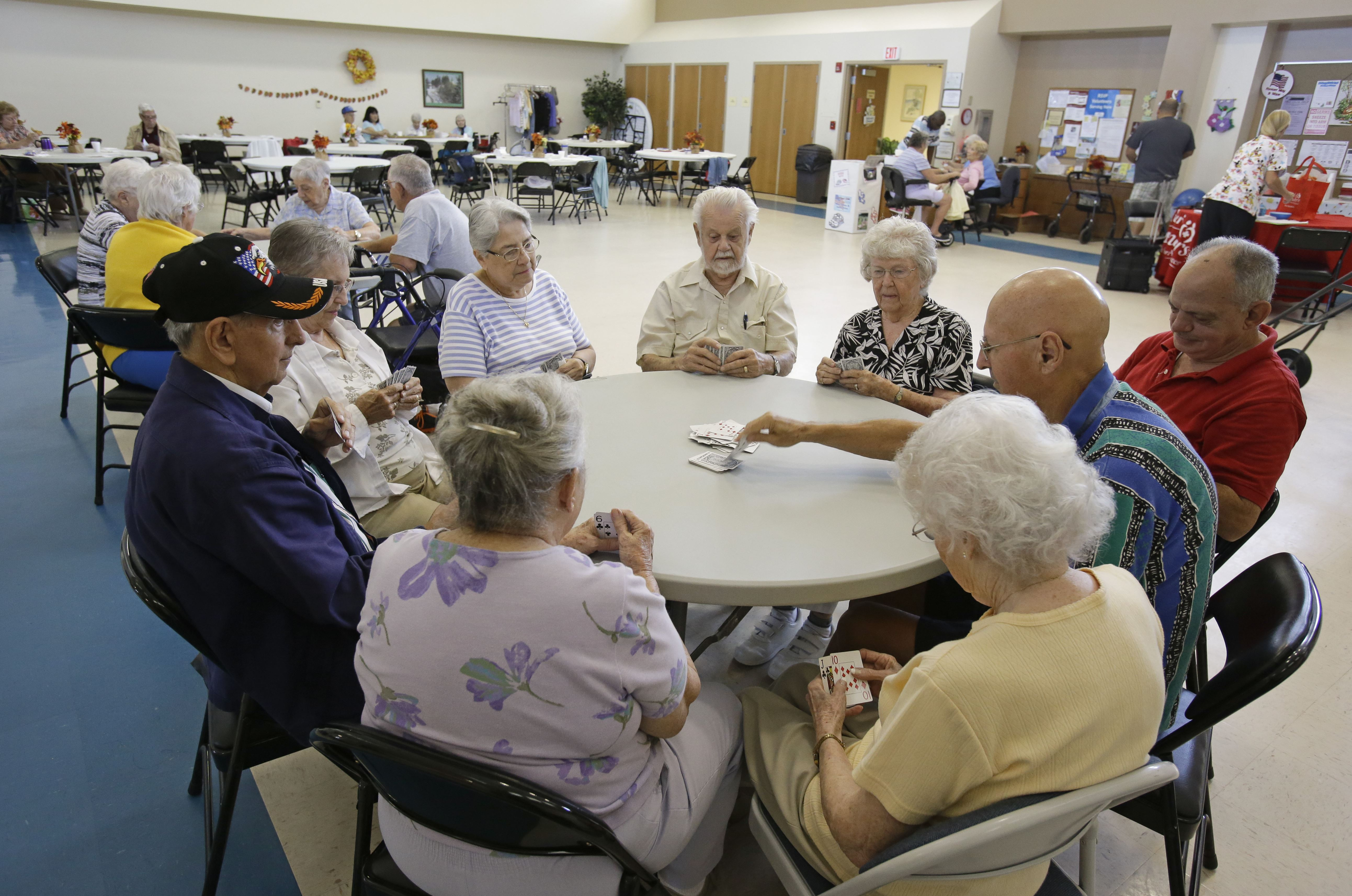Floridas Gray Future In this 2014 file photo, a group of retired senior citizens gather for cards at the Citrus County Resource Center in Lecanto, Fla. In Citrus County, more than a third of residents are senior citizens, the sixth-highest rate in the nation.