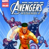Captain Citrus, center, the mascot of the Florida Department of Citrus, was redesigned from a talking orange to a superhero by Marvel Comics. The new muscular Captain Citrus will appear with Marvel's popular Avenger Assemble characters in a series of custom comic books.
