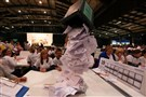 Ballot boxes are opened as counting begins in the Scottish Independence Referendum for the Aberdeenshire Council area, Aberdeen, Scotland, Thursday.