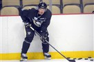 Sidney Crosby participates in Penguins training camp at Consol Energy Center on Friday.