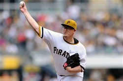 Pirates starting pitcher Vance Worley led the way in Sunday's game against the Brewers.
