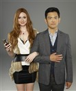 "ABC's ""Selfie"" stars Karen Gillan as Eliza and John Cho as Henry."