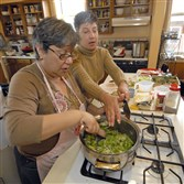 Maria Merante Palmieri, left, with her sister, Gina Merante Ross, has a full slate of Italian cooking classes in October.