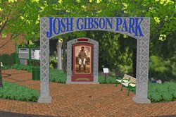 An artist's rendering by Astorino for Josh Gibson Park's proposed Gateway view.