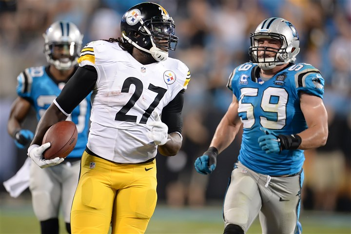20140921pdSteelersSports14-1 LeGarrette Blount rushed for 266 yards on 65 carries with two touchdowns this season.