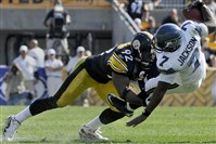 James Harrison sacks Seattle quarterback Tarvaris Jackson during a 2011 game at Heinz Field.