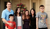 "The Lund family, from left, Don, Brian (in front), Nikki, Catie, Donna and Donny, is the focus of the documentary ""The Family Next Door"" which explores the challenges, grace and determination of living with Brian's and Donny's autism."