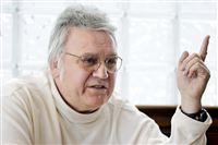 In this Feb. 25, 2010, file photo, former U.S. Rep. James Traficant talks about politics at a diner in Boardman, Ohio.