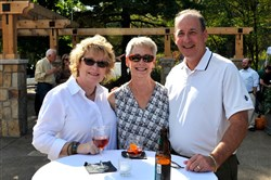 Deb Donley, Patti Dodge and Howard Shulberg at the From Garden to Table dinner.