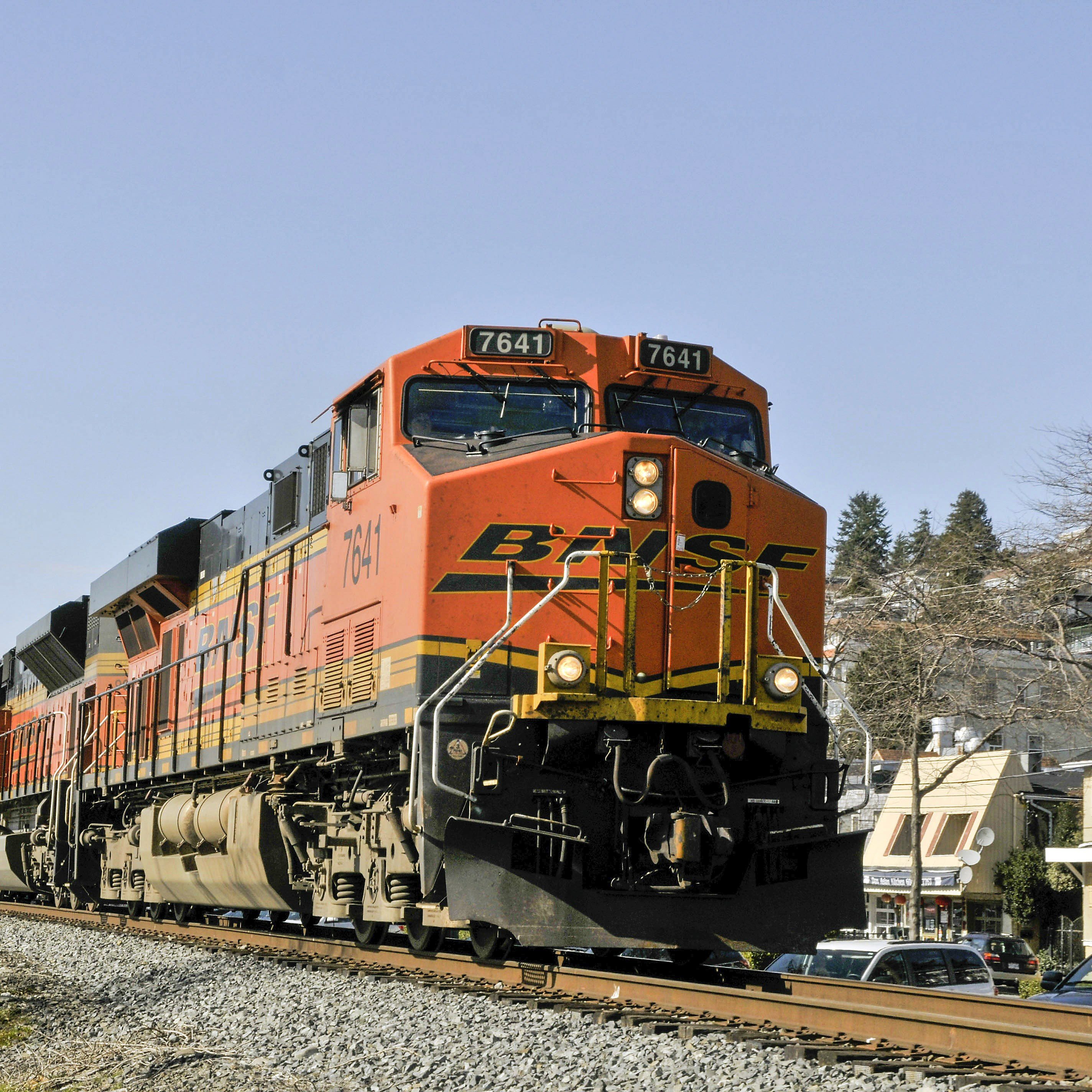 A Burlington Northern Santa Fe Corp. coal train on a scheduled run from Tsawwassen, British Columbia,Canada to Seattle this past March.