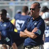 Penn State head coach James Franklin looks on from the sidelines during Penn State's 29-6 loss to Northwestern in State College, Pa., Saturday, Sept. 27, 2014.