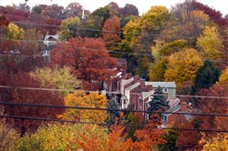 Fall colors emerge in Whitehall Borough in 2013.