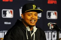 Pirates pitcher Edinson Volquez said he's 'excited' about starting tonight's NL wild card game against the Giants.